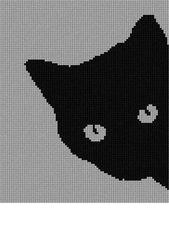 Needlepoint Kit oder Canvas: Katze um die Ecke -…