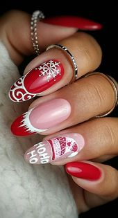 45+ Awesome and Cool Christmas Nails and Polish Design Ideas Part 44