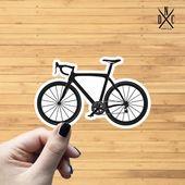 Road Bike Vinyl Sticker, Best Friend Gift, Laptop Decals, Fitness Stickers, Decal, Macbook Decal, St