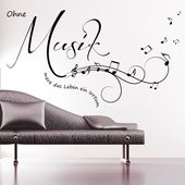 Wandtattoo Ohne Musik wäre das Leben ein Irrtum. von Wandtattoo-Loft auf DaWand… – Ma Wi