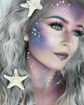 Mermaid make-up – 70 ideas for little and big mermaids
