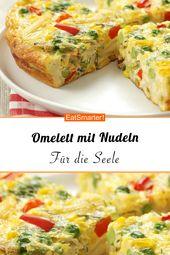 Omelete com macarrão e legumes coloridos (Frittata veneta)   – Nachhaltig kochen: leckere Resteküche