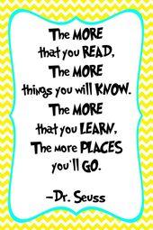 Dr. Seuss Quote Print – Classroom poster or nursery print – digital obtain