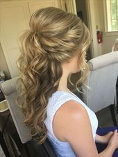 The best bridal hairstyles for half-open hair and pinned up hairstyles. #Ha…