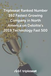 Tripleseat Ranked Number 392 Fastest Growing Company in North America on Deloitte's 2019 Technology