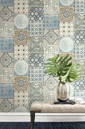 Peel And Stick Self Adhesive Wallpaper Wallpaper Peel Etsy In 2021 Spanish Style Bathrooms Mosaic Wallpaper Moroccan Home Decor