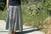 jupe bohème + tutoriel – La petite couture de Camille   – couture jupe longue
