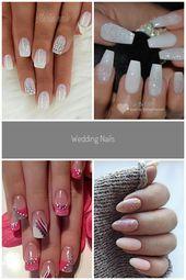 Wedding Nails –  – #nageldesign #nagel bruiloft Wedding Nails