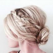Chic updos for medium-length hair 11 beautiful medium-long hairstyle …