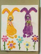 Easter ideas Tumblr- Footprint Card Cute Bunny