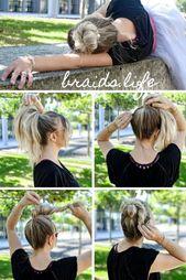 Very simple hairstyles Instructions: loose ballerina bun