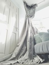 Details About New Quality Lined Silver Crushed Velvet Heavy Huge 76 Width 106 Long Curtains Long Curtains Crushed Velvet Curtains