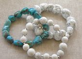 Faux Stone Bracelets from Salt Dough