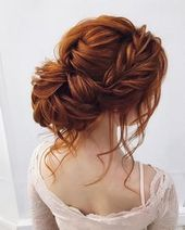 front braided + messy updo hairstyle ideas, wedding hairstyle . bridal hairstyles ,prom hairstyles #weddinghair #hairstyleideas #braids braid hairstyl...