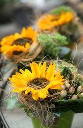 Blumen Tischdeko – eine frische Idee! – #Blumen #e…