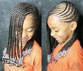 Cornrows for little girl #hairstyle braiding