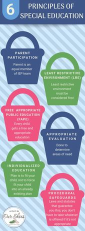 These 6 Rules of IDEA have to be utilized at each IEP assembly. • A Day In Our Footwear