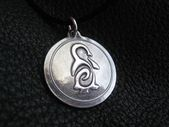 Sterling Silver Pendant with Custom Tattoo Design -EXAMPLE   – Products