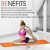 Yes4all Tpe Exercise Yoga Mat A Eco Friendly Yoga Mat For Pilates Workout A A Inch Thick Yoga Mat Yoga Floor Mat 6mm Talis Yoga Hot Yoga Pilates Workout
