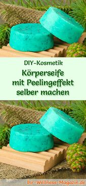 Seife mit Peeling-Effekt selber machen – Seifenrezept & Anleitung   – DIY – Geschenkideen