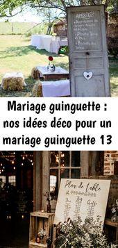 Mariage guinguette : nos idées déco pour un mariage guinguette 13