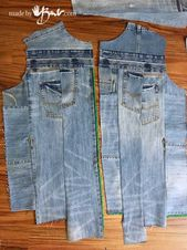 UpCycle Denim Jeans to Jacket – Made By Barb – Easy piecing of repurposed jeans into a stylish jacket, no pressure pattern