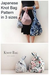 Sewing pattern for a Japanese knot pocket. This easy to sew bag is the ideal bag …   – Sy taske