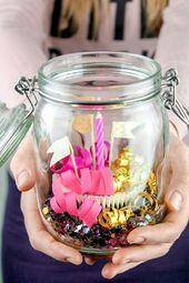 Süßes Geschenk im Glas basteln | Schenken macht …