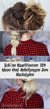 Beautiful hairstyles: 124 ideas and instructions for re-styling – DE – hairstyles medium-length hair, tie deep ponytails, fast everyday hair …