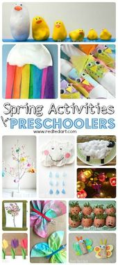 Straightforward Spring Crafts for Preschoolers and Toddlers – Pink Ted Artwork