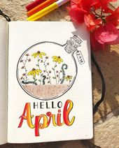 15 Great April Bullet Journal Cowl Pages to Encourage You