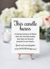 Gedächtnis Kerze Zeichen, diese Kerze brennt, druckbare W …