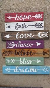 3 Reclaimed Wood Arrow Sign Rustic by UpcycleCharm