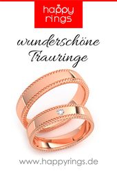 Wedding rings red gold Happyrings