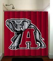 Alabama Crimson Tide University Of Alabama Football Shower Curtain