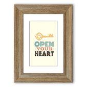 East Urban Home Gerahmtes Poster Open Your Heart | Wayfair.de