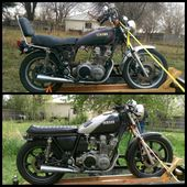 My Yamaha Xs750 Special Initial Transformation I Ve Done A Bit More Work On It Since November Of 2014 T Yamaha Cafe Racer Suzuki Cafe Racer Virago Cafe Racer