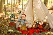 Happy Camper Dream Session | Camping Themed Photo Shoot