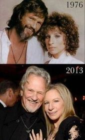Barbra Streisand Then 34yrs Kris Kristofferson Then 40yrs A Star Is Born Memory Submitted By Michaelj Movie Stars Barbra Streisand Kris Kristofferson