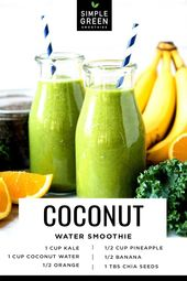 Coconut Water Smoothie | Simple Green Smoothies 1