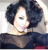 25 beautiful short wavy hairstyles  #CurvyHairIdeas Visit us at DisconnectedHair for more great ideas..