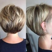Charming Stacked Bob Hairstyles #bobhaircut #layer…