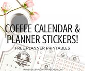 Coffee Shop Printable Calendar And Weekly Planner Stickers – Printables and Inspirations