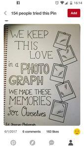 """""""Wir halten diese Liebe auf einem Foto …"""" #Ed Sheeran #Art #drawing"""
