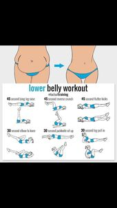 Lower belly workout. Do it anywhere. #stomachexercises Lower belly workout. Do i…