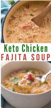 Low Carb Chicken Fajita Soup – lecker, voller Geschmack und extrem sättigend ….