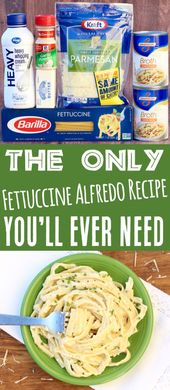 Fettucini Alfredo Recipe Simple!