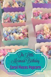 Little Mermaid Birthday: Coral Pieces Popcorn