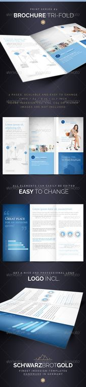 Corporate Trifold Brochure by assaiv on @creativemarket brochure - brochure template word