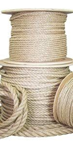 Amazon Com Ravenox Natural Twisted Cotton Rope Natural White 1 4 Inch X 10 Feet Made In The Usa Strong Triple Strand In 2020 Rope Art Pet Toys Natural Twists